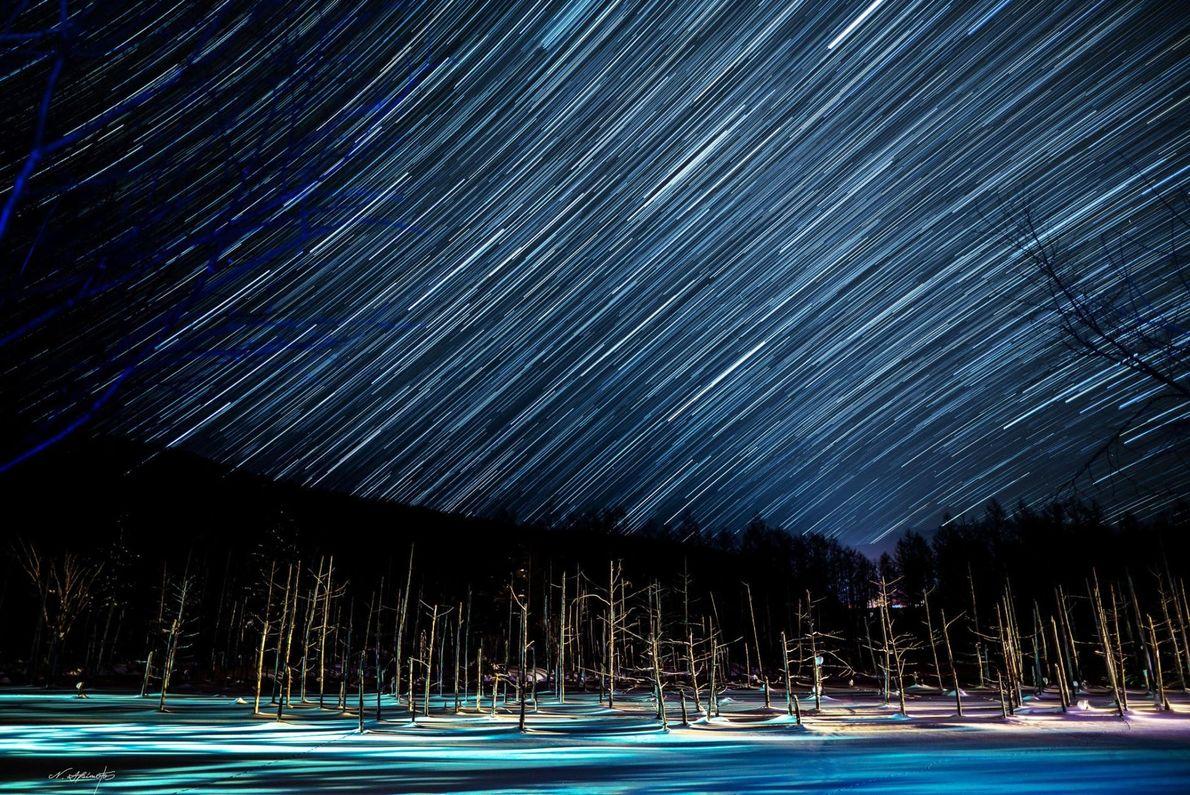 Blue Pond, Sternenhimmel