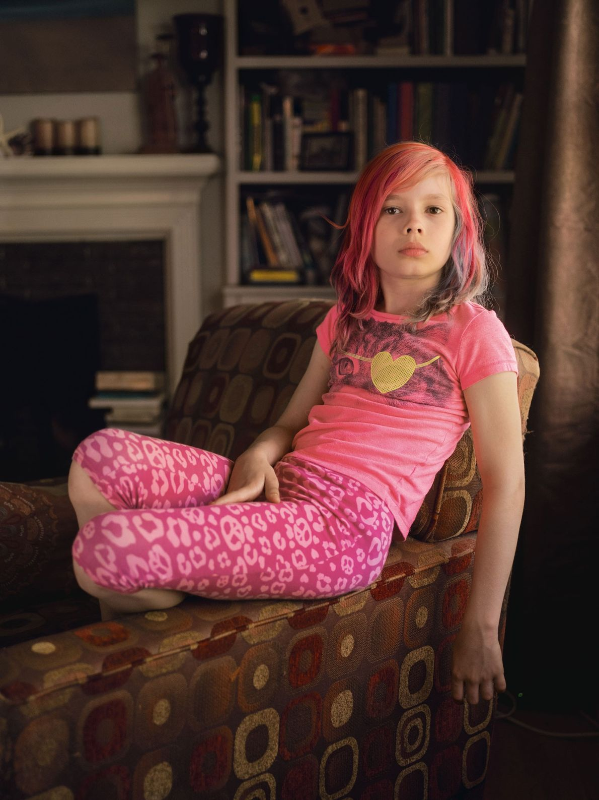 Avery Jackson, ein neun Jahre altes Mädchen, war der erste Transgender, der auf dem Cover des ...