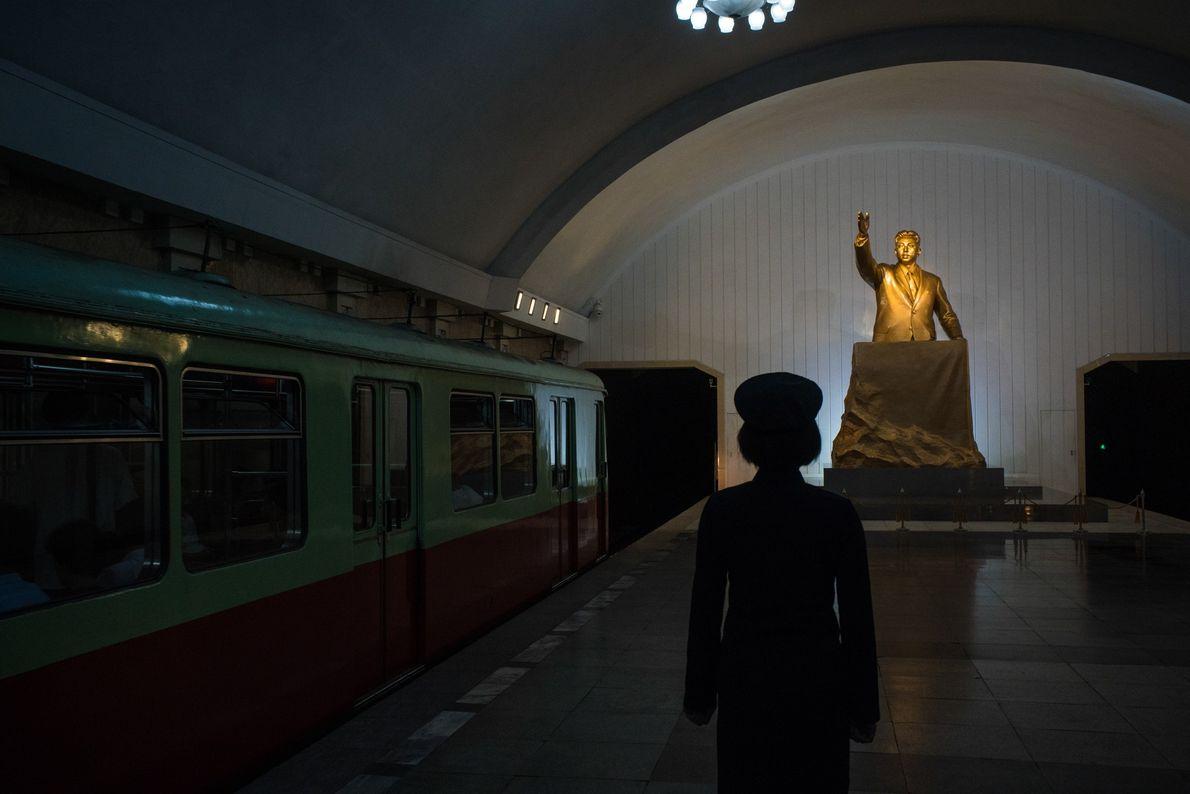 U-Bahnstation in Pjöngjang