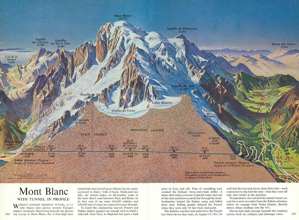 1965 MONT BLANC, Karte