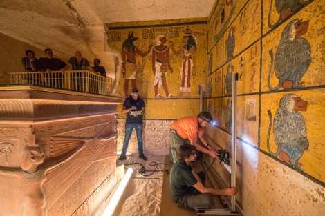 Galerie: Tutanchamuns Grab hat keine versteckten Kammern
