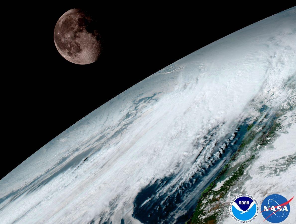 Die Erde glänzt in diesen dramatischen neuen Fotos aus dem All