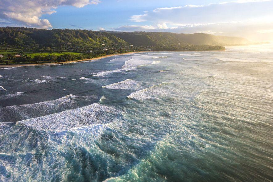 Man kann es jemandem nachsehen, wenn er denkt, dass Surfen in Hawaii besser den Profis überlassen ...