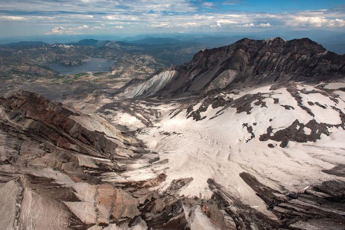 Der Kratergletscher des St. Helens ist der jüngste Gletscher in den unteren 48 US-Bundesstaaten – und ...