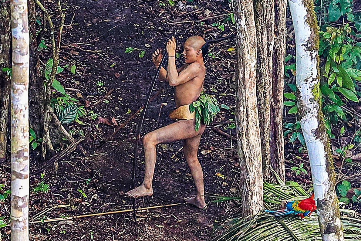 Foto eines Stammesmitgliedes im Amazonas