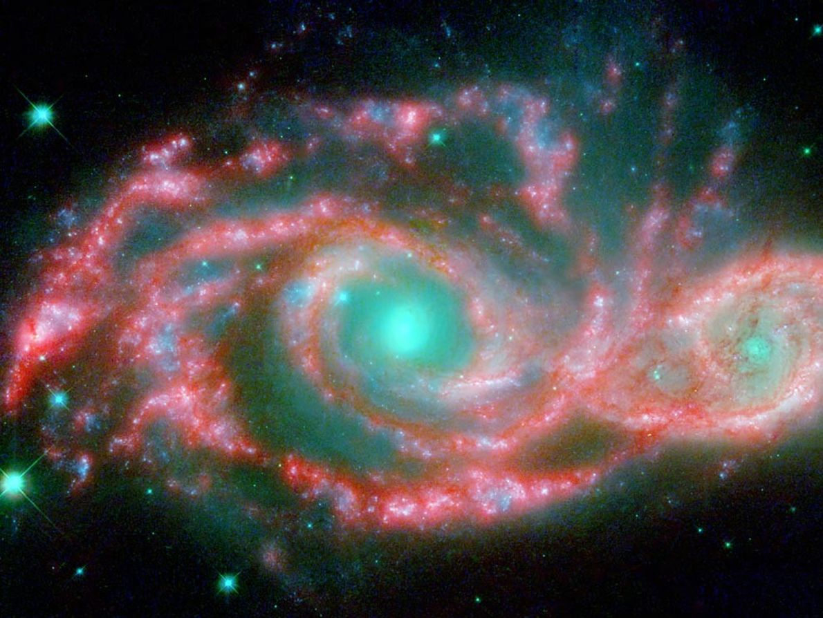 Zwei kollidierende Galaxien