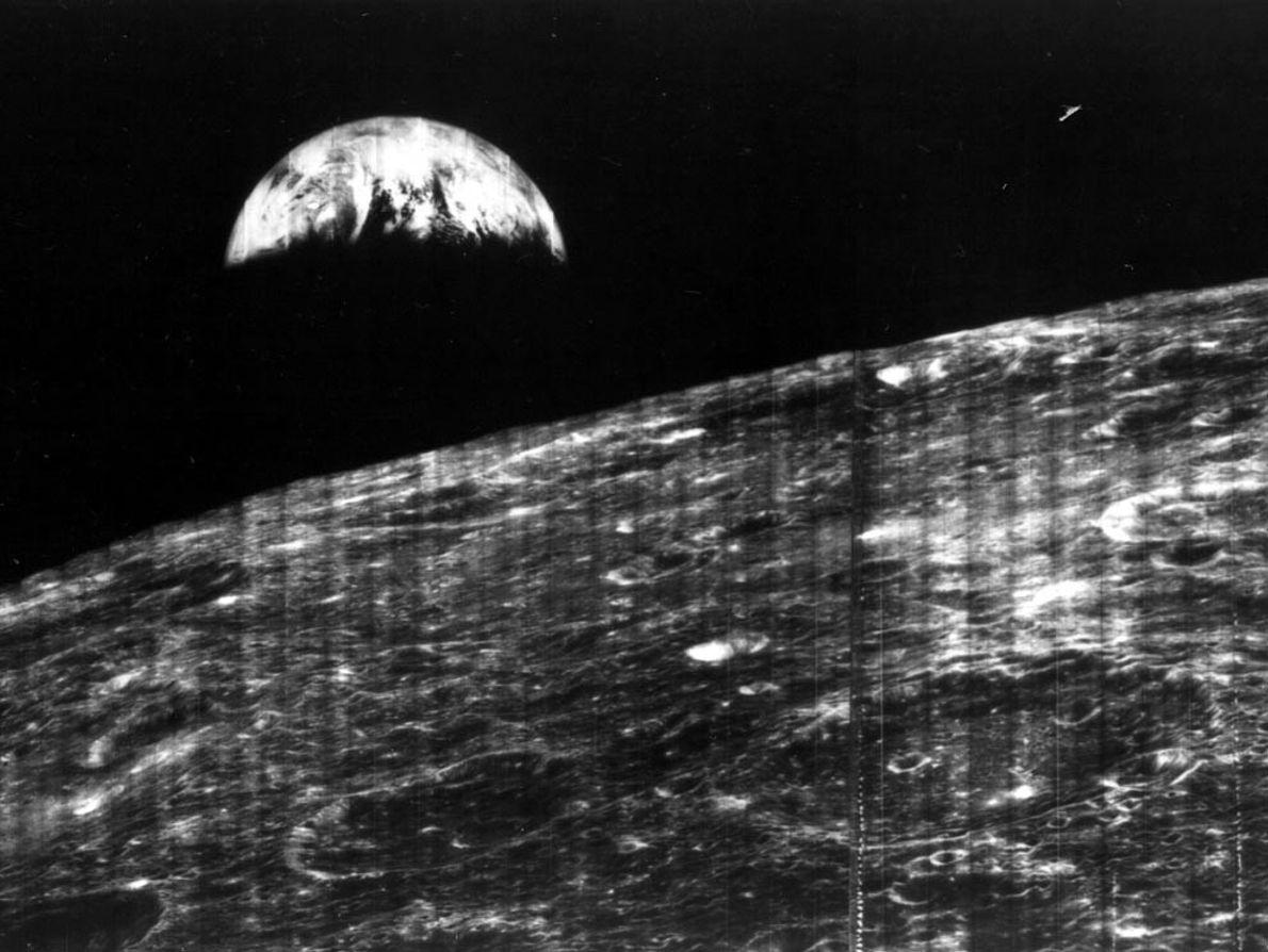 Foto der Erde vom Mond aus