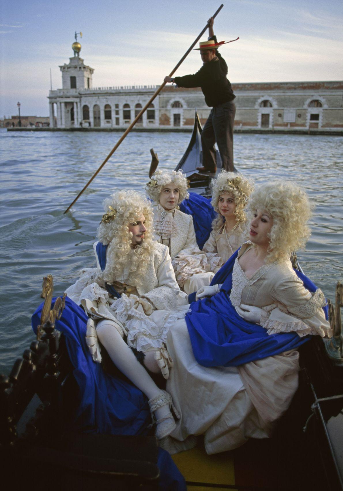 Kostümiertes Quartett