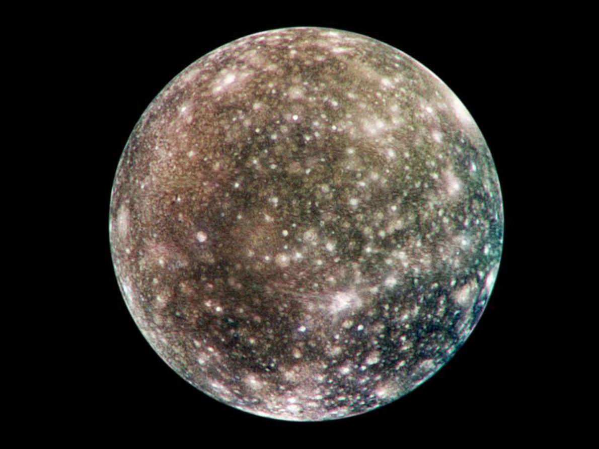 Karte des Jupitermondes Kallisto