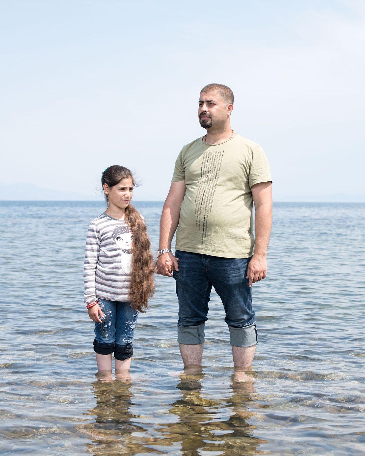 Marwan Jihad und seine Familie, darunter seine elfjährige Tochter Sama, flohen aus dem Irak, nachdem sie ...