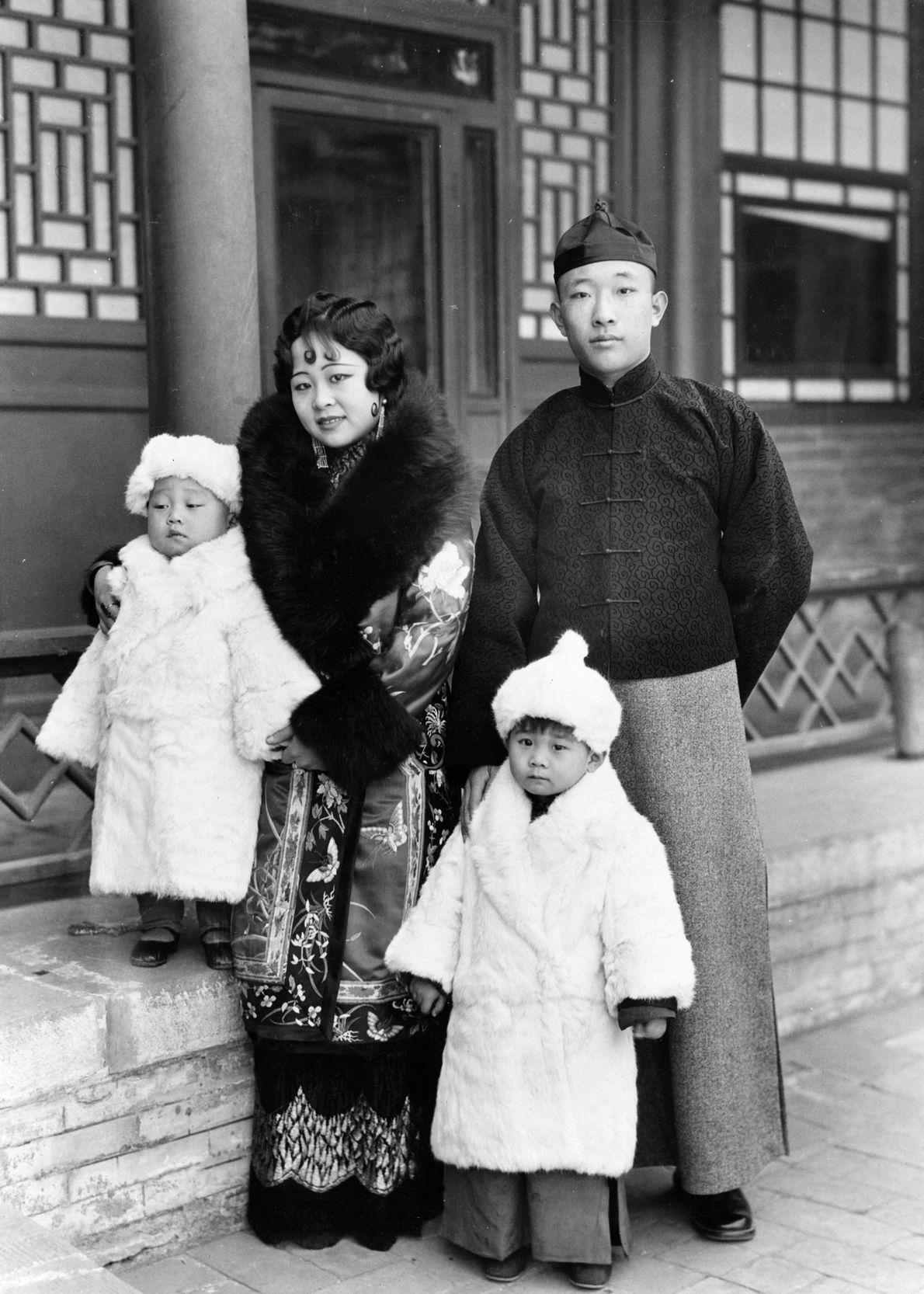 Ein mongolischer Prinz und eine Prinzessin