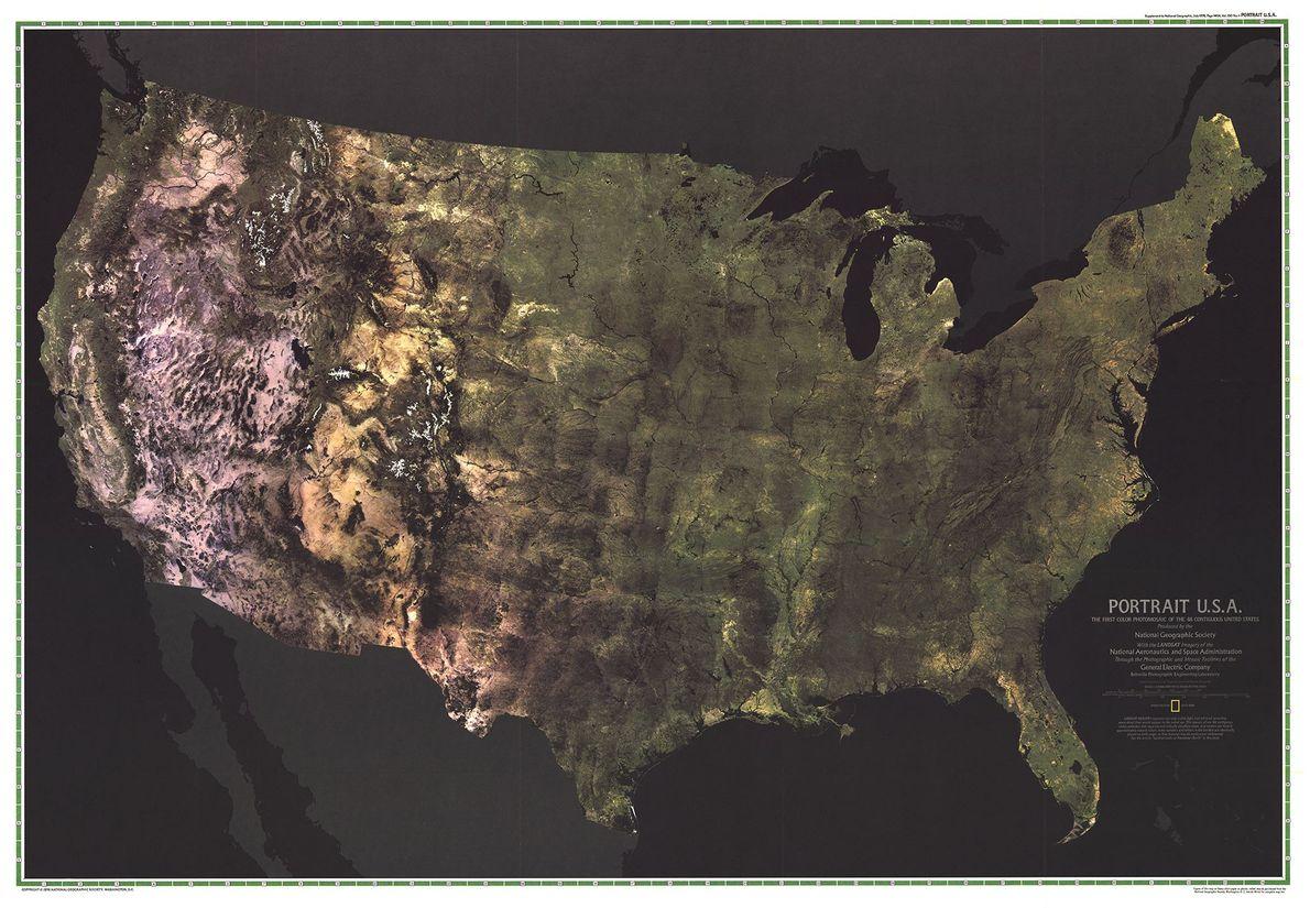 1976 PORTRÄT DER USA, Karte