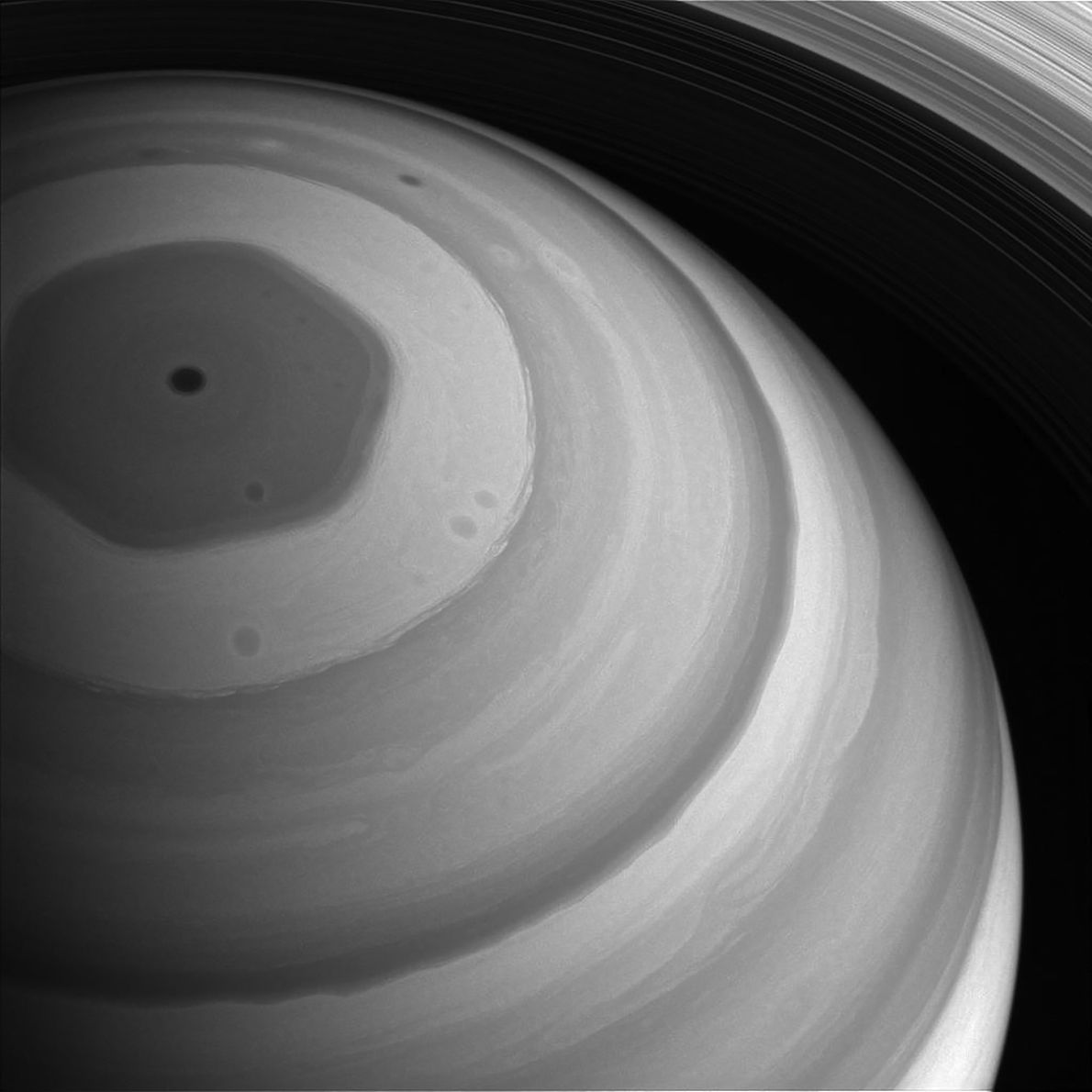 Nördliche Region des Saturn