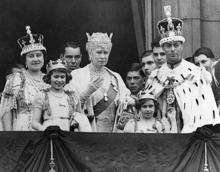 Krönungszeremonie König George VI. und Königin Elizabeth