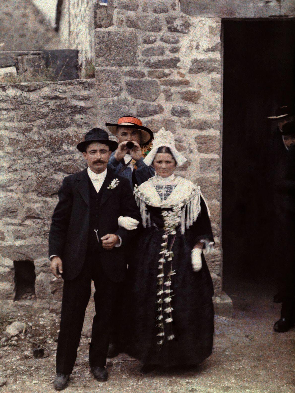 Brautpaar aus der Bretagne