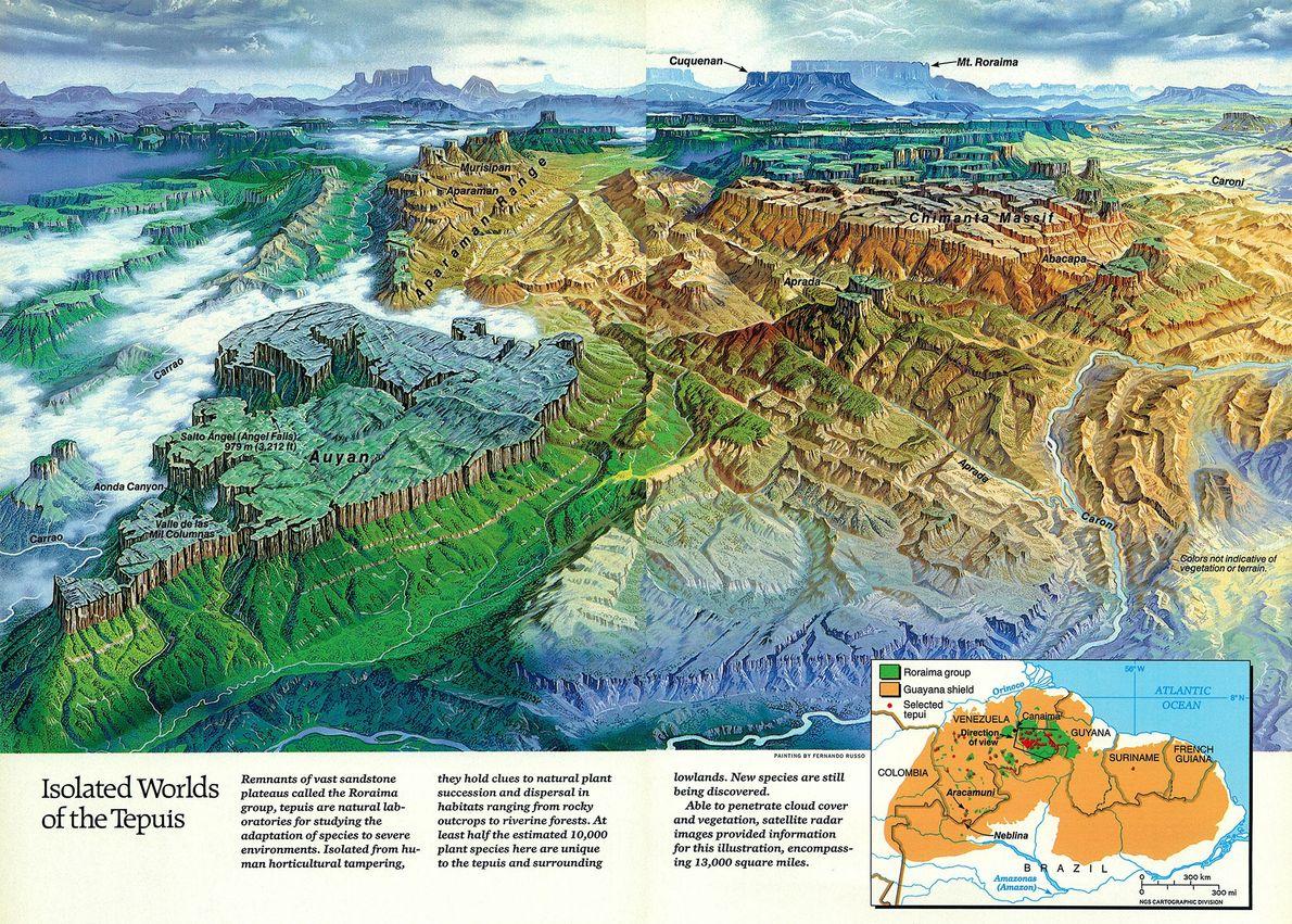 1989 Tepuis, Karte