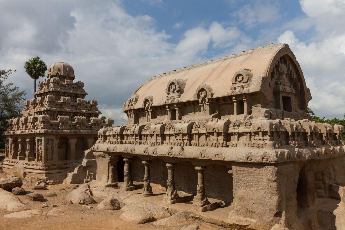 Die Fünf Rathas im Süden Indiens bilden einen Komplex aus Scheintempeln, die vor etwa 1.300 Jahren ...