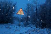 Straßenschild bei Prypjat