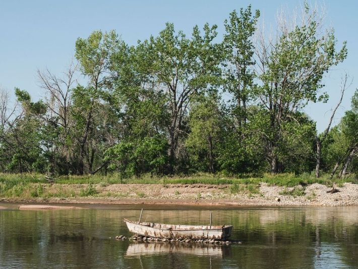 Teich bei Lyons in Colorado 2013
