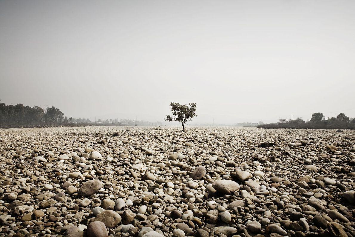 Ganges in der Trockenzeit