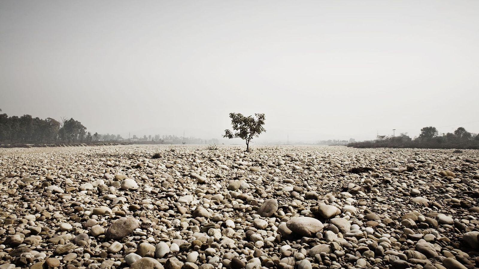 Getrocknete Zuflüsse des Ganges