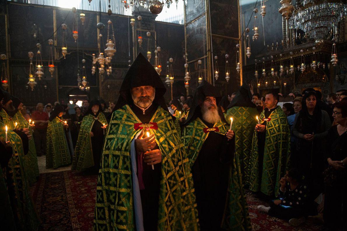 Karfreitagsgottesdienst in der St.-Jakobus-Kathedrale in Jerusalem