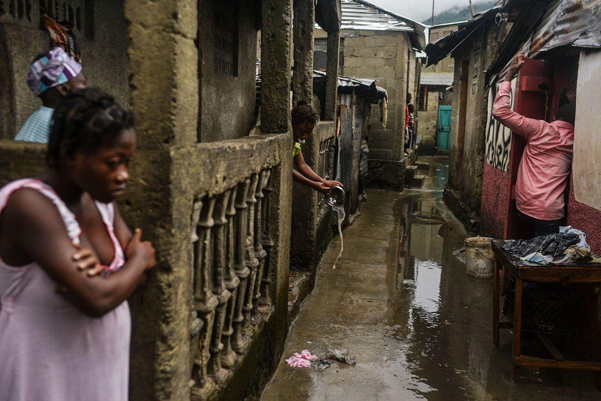 Überschwemmte Slums