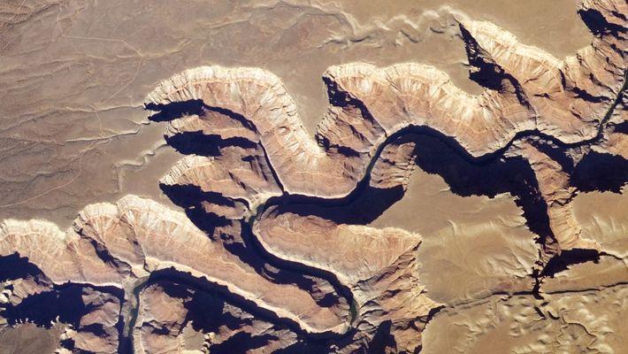 Der Grand Canyon aus dem Weltraum