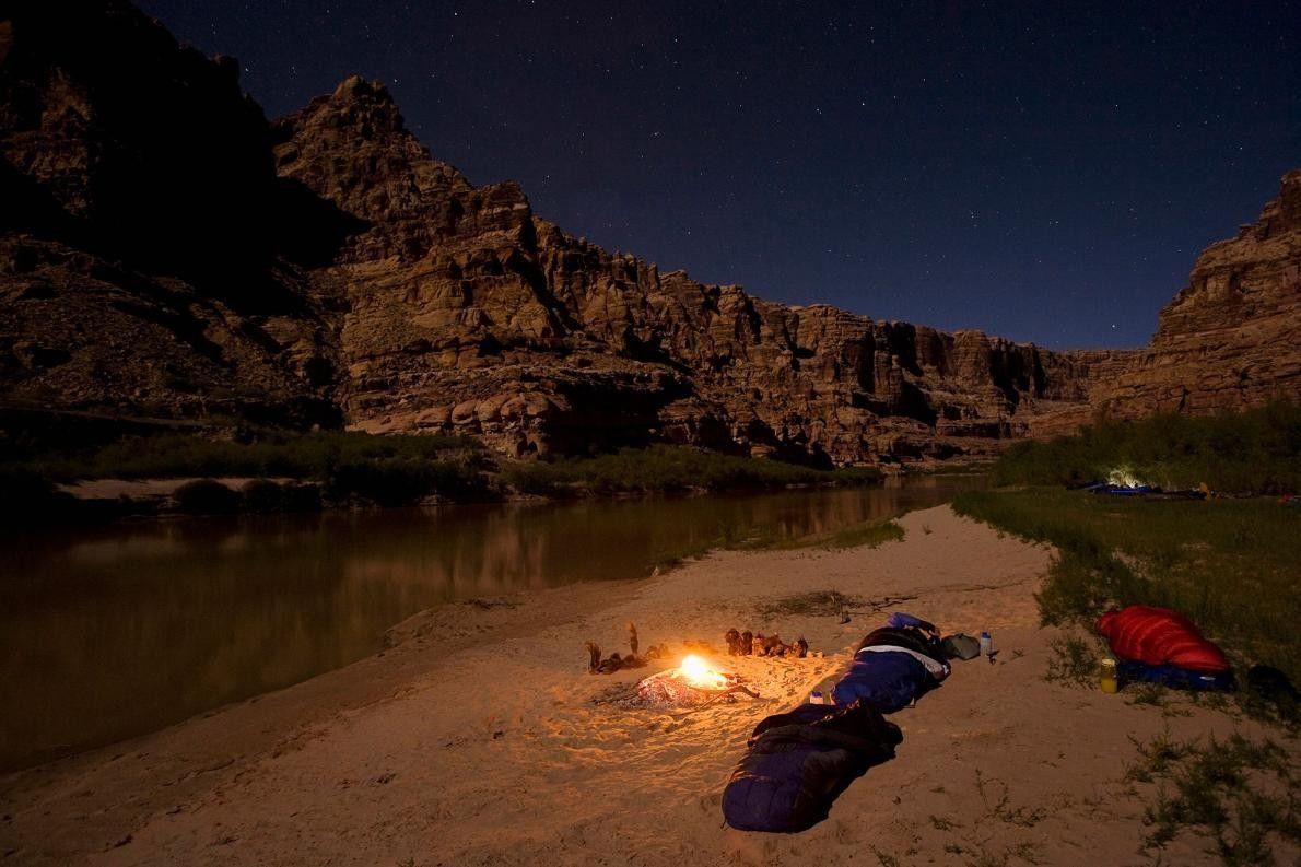 Bootsfahrer campen