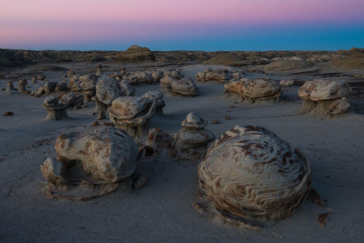 Hoodoo-Formationen in New Mexico