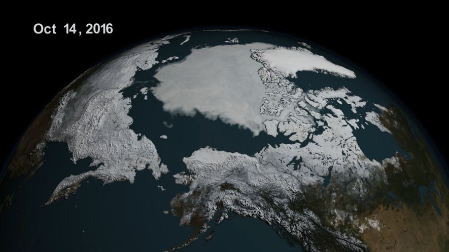 Meereis in der Arktis erreicht Rekordtief