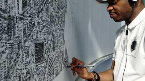 Dieser Unglaubliche Künstler Zeichnet Eine Ganze Stadt Aus Dem