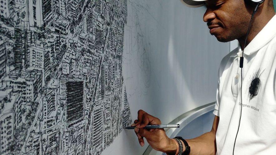 Künstler malt ganze Stadt aus dem Gedächtnis