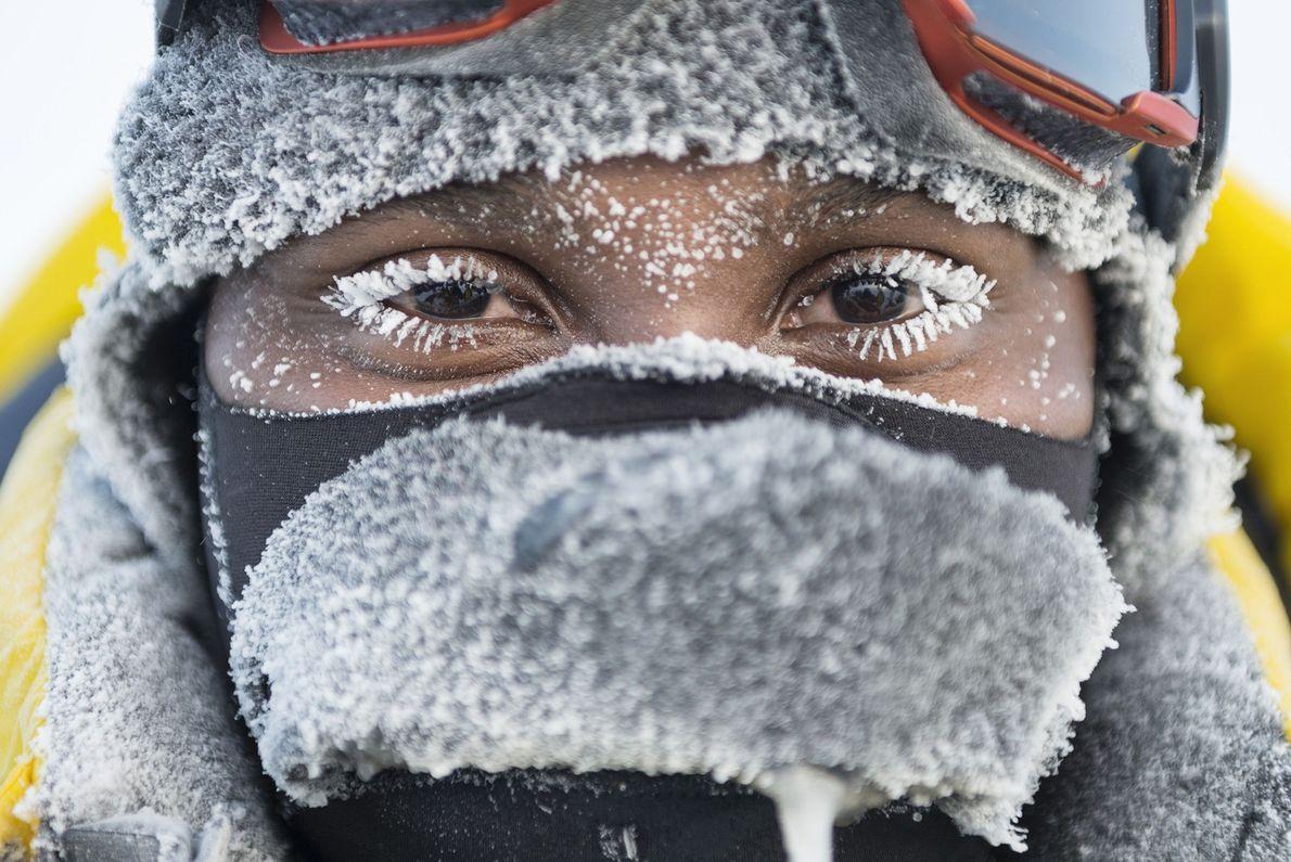 Ein Mann am Nordpol