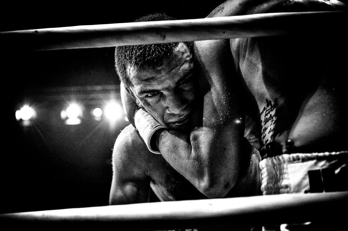 Boxende Männer in Dänemark