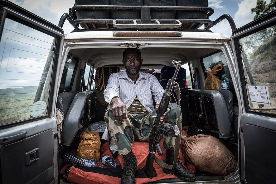 Ein Park-Ranger im Mago-Nationalpark in Äthiopien
