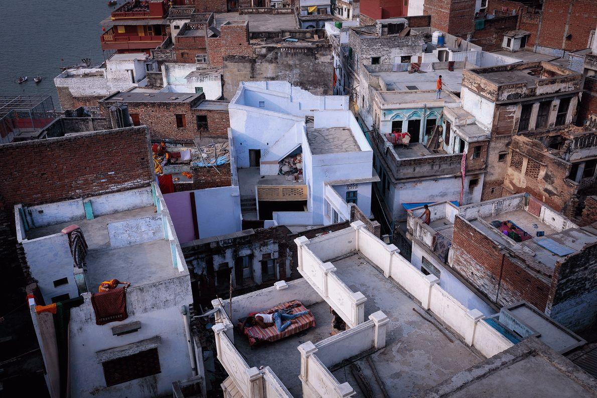 Dächer in Varanasi, India
