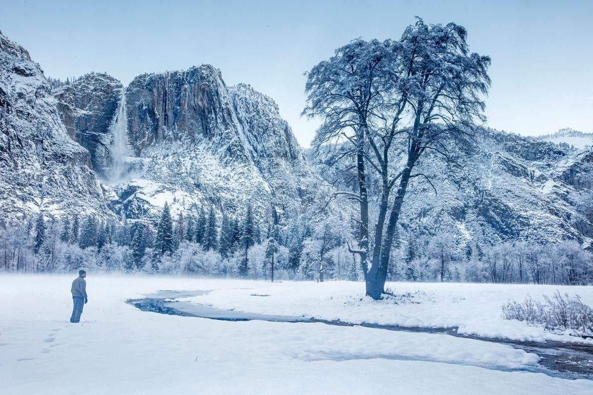 Wanderer im Winter