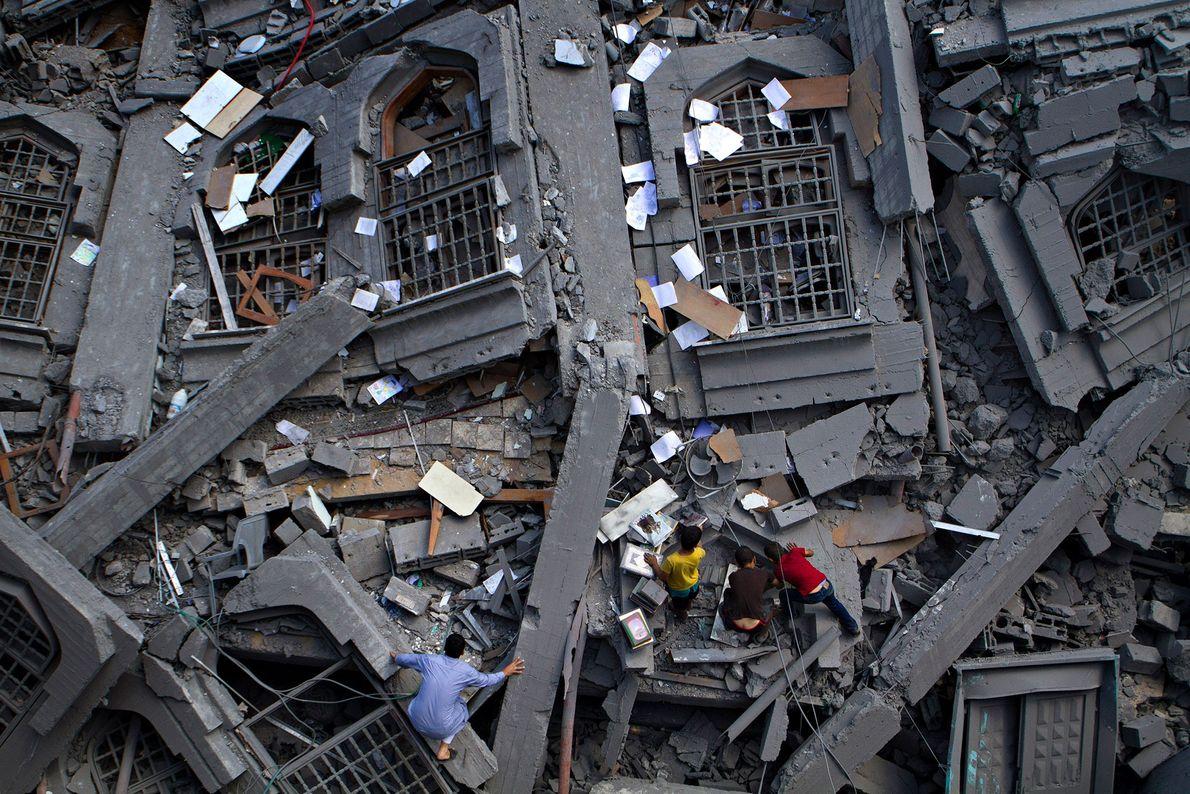 Schutt der Al-Qassam-Moschee