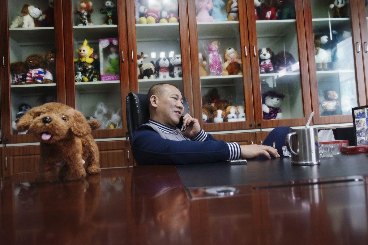 Mann in Büro