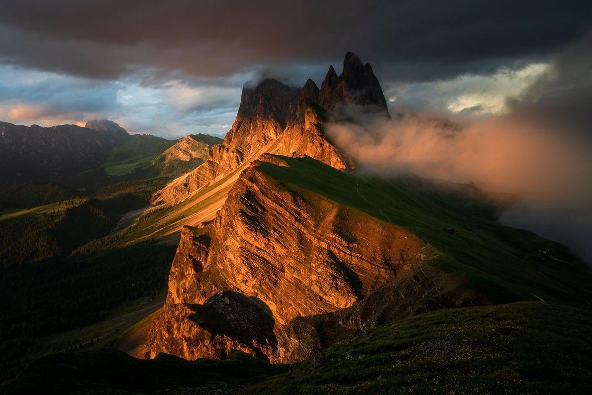 Die Seceda in den Dolomiten
