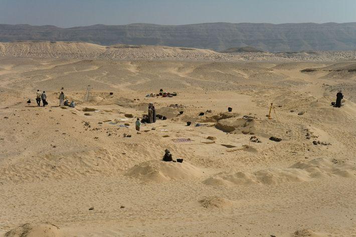 Friedhof im ägyptischen Amarna