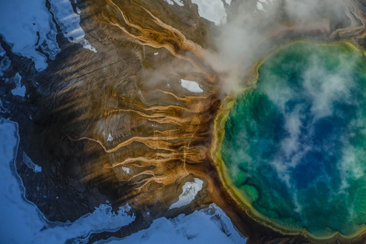 Grand Prismatic Spring im Yellowstone-Nationalpark