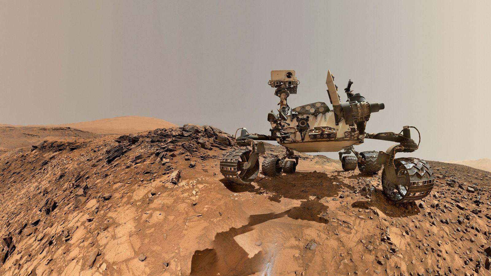 Selfie vom Curiosity-Rover