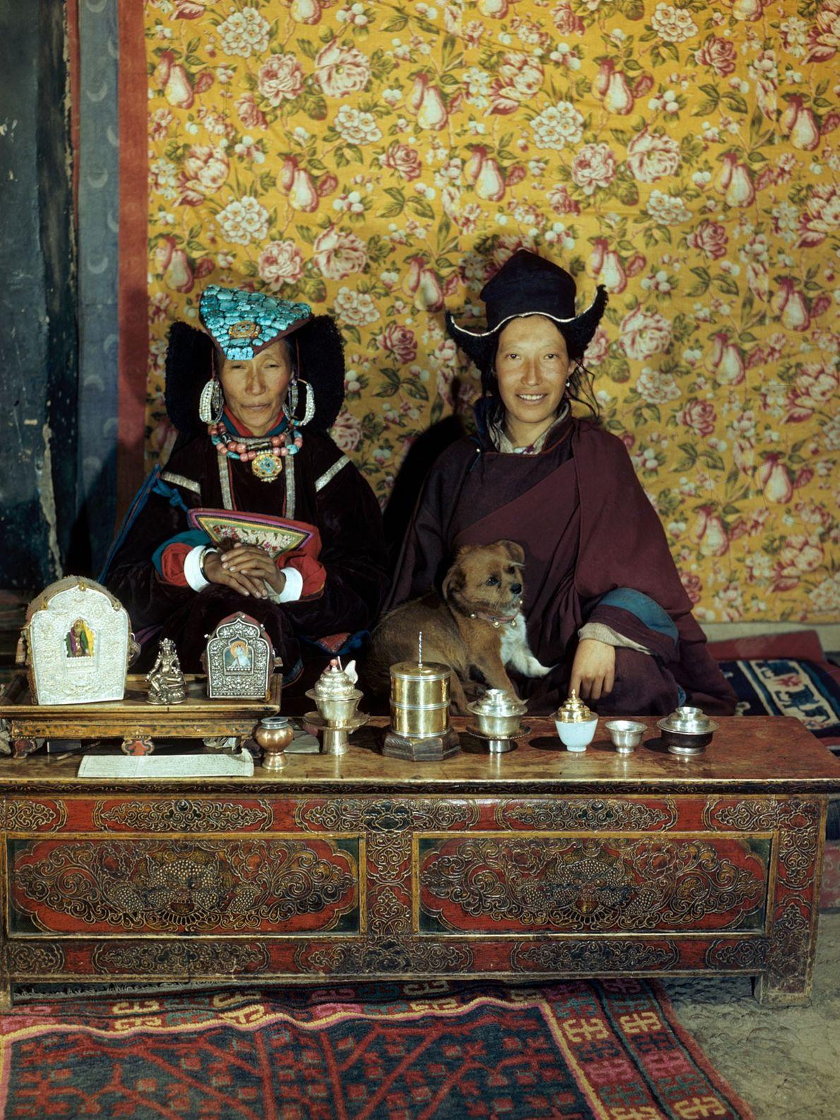 Eine frühere Königin von Ladakh