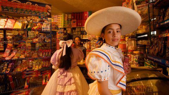 Frau in San Miguel de Allende in Mexiko.