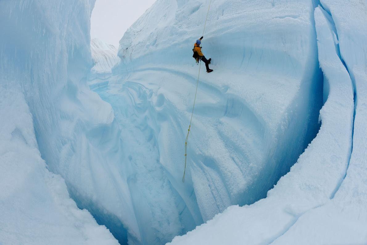 Schlucht im Grönländischen Eisschild