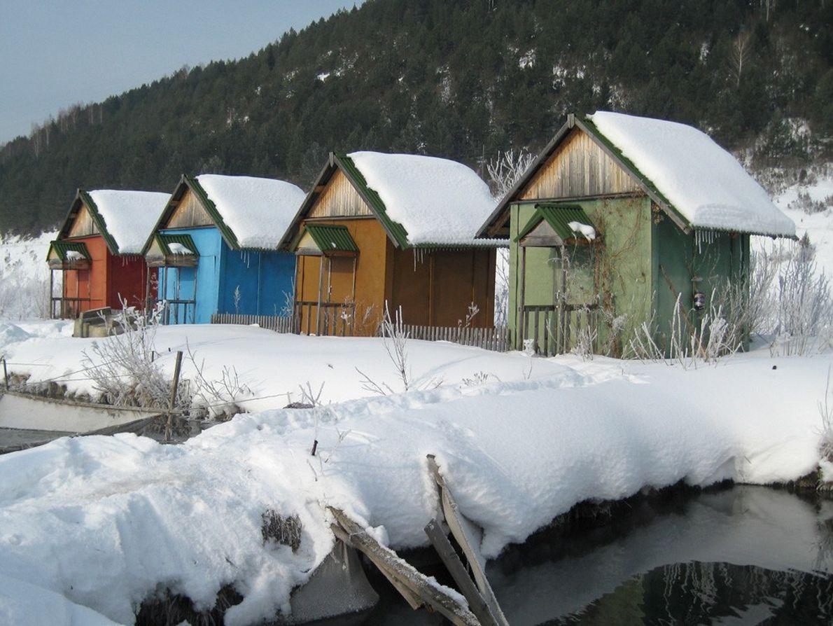 Sibirische Hütten