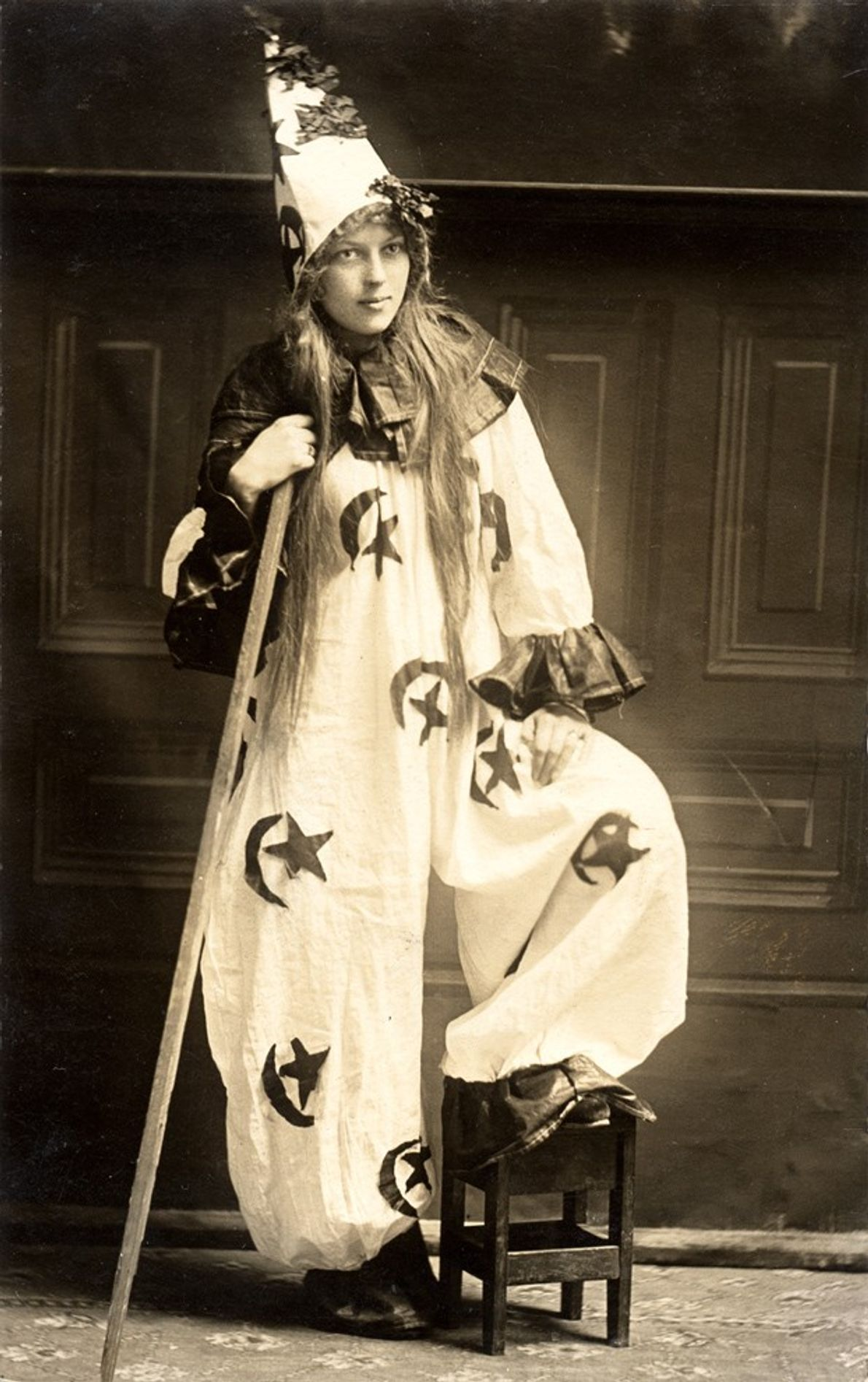 Vintage Kostüm Halloween: Hexe, Zauberer, Clown