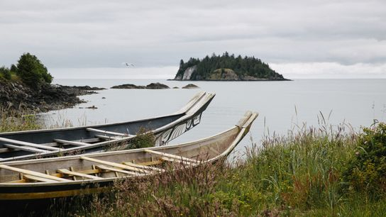 Zu Haida Gwaii gehören rund 150 Inseln entlang der nördlichen Küste von British Columbia. Sie sind für ...